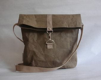 crossbody urban bag, washable paper bag,