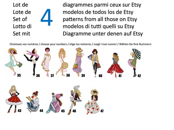 Lot of 10 parisian miyuki beads weaving diagrams  miyuki weaving  miyuki diagram  miyuki model  pearl diagram