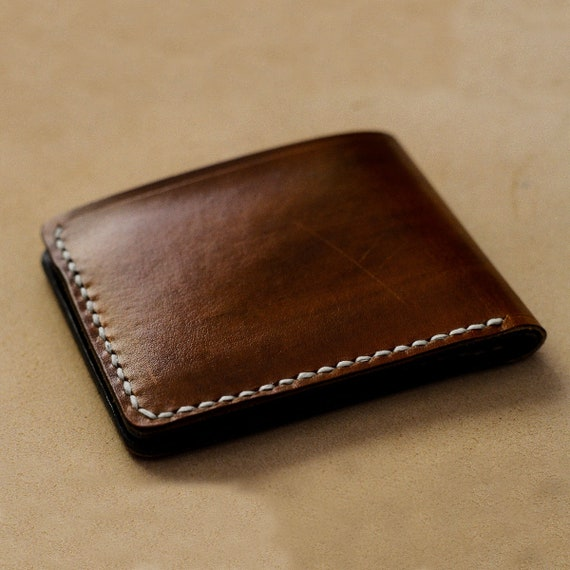 Card Holder Gift for Him Made from Cowhide Leather in Greece. Black Wallet Wallet Men Card Wallet Leather Wallet