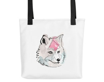 Tote Bag Print, Tote Bag Art, Boho, tote Bag Screenprint, Tote Bag Illustration, Watercolor, Canvas Tote Bag, Print, Dog, Art, Shopping, Geo