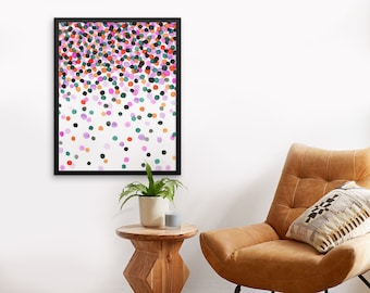 Watercolor Print, Watercolor Wall Art, Abstract Painting,Modern, Nursery, Dots,  Abstract Watercolor, Abstract Painting, Home Decor,Gift