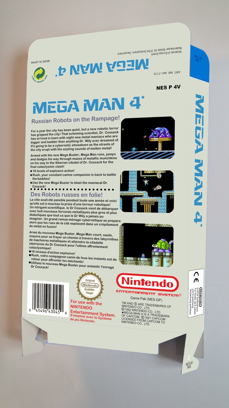 Mega Man 4 thick cardboard as in the original. box only PAL NES