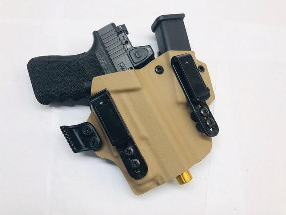 Glock 19//17//23//26//22 AIWB w//Olight PL mini IronXHolsters Sidecar Style Holster