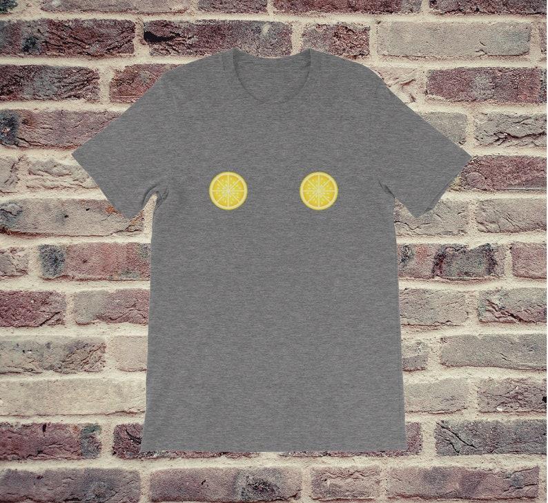 0fc0ce9e2 Lemon Boob T-shirt Cute lemons shirt summer t-shirt Lemon | Etsy