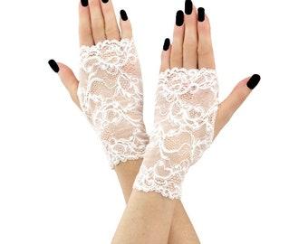 bridal gloves lace gloves wedding gloves fingerless gloves women gloves white mittens short mittens gloves formal gloves lace white 3755