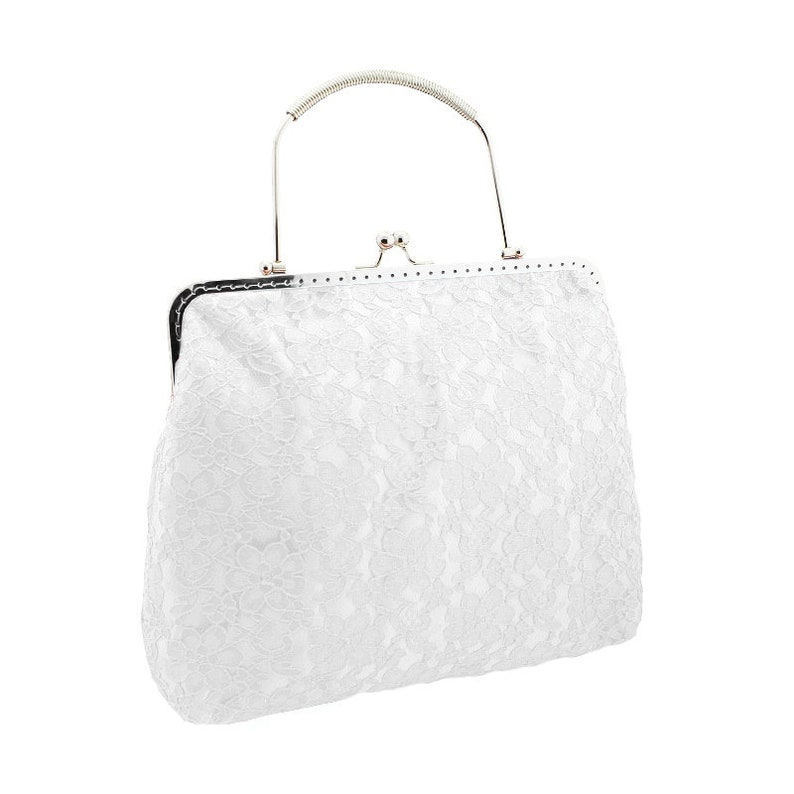 8723b14af38b White clutch bride bag bridal purse bridal bag evening handbag
