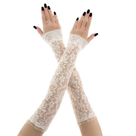 gants mitaines mariage manchettes gants sans doigts gants   Etsy 833c24ec5764