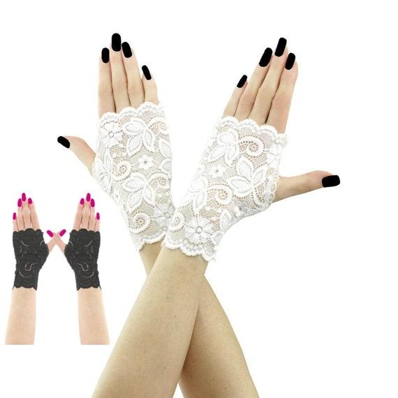 c090f4fcad27 Mitones cortos, mitones de encaje,guantes de novia,guantes blancos, cortos mitones, guantes de encaje para novia en boda, blanco 2185