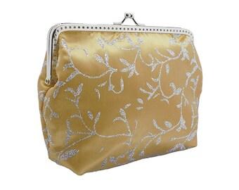 clutch bridal purse bridal bag wedding clutch bag gold purse bridesmaid clutch bag chain textured fabric bride wedding gold silver 1385