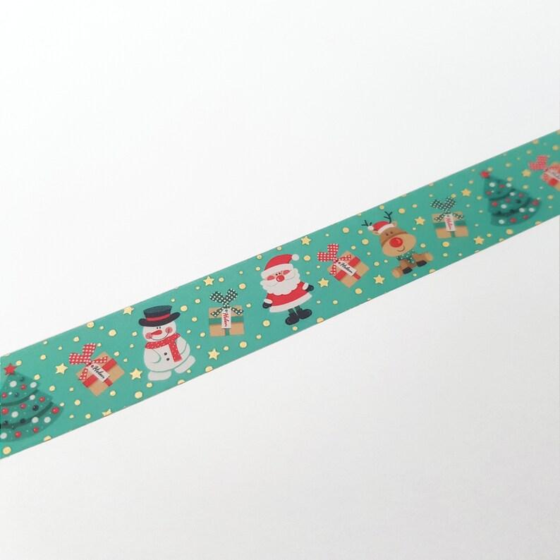 Santa Washi Frosty the Snowman Rudolph Washi Christmas Washi Tape w Gold foil Traditional Green Christmas Star Washi Xmas Tree Washi