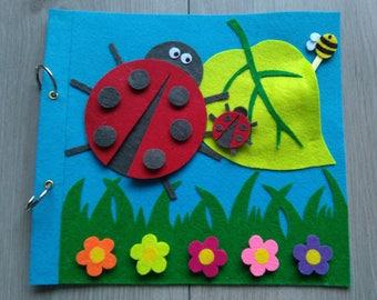 Quiet Book (Pagina/page)-Ladybird/Ladybug