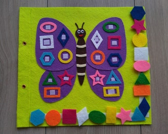 Quiet Book (Pagina/page)-Mariposa/Butterfly