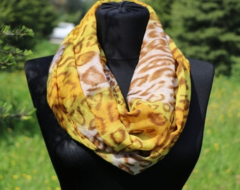 Summer Scarf / Yellow Scarf / Womens Scarf / Women Fashion Scarf