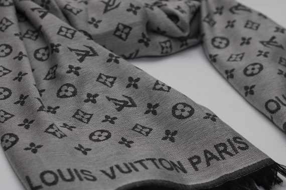 Grey Louis Vuitton Scarf Inspired, Reversible LV Scarves Wraps Inspired,  Unisex Fall Scarf, Valentine s Day Gifts for Her, HIGH QUALITY c55c72cba18