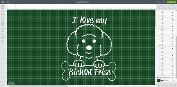 I Love My Bichon Frise Dog Svg File That Works With Cricut Etsy