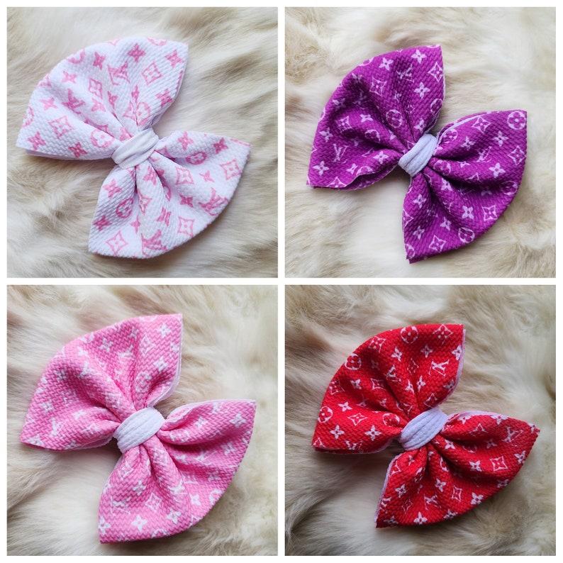 Designer inspired 4 different colors brand inspired headband bow