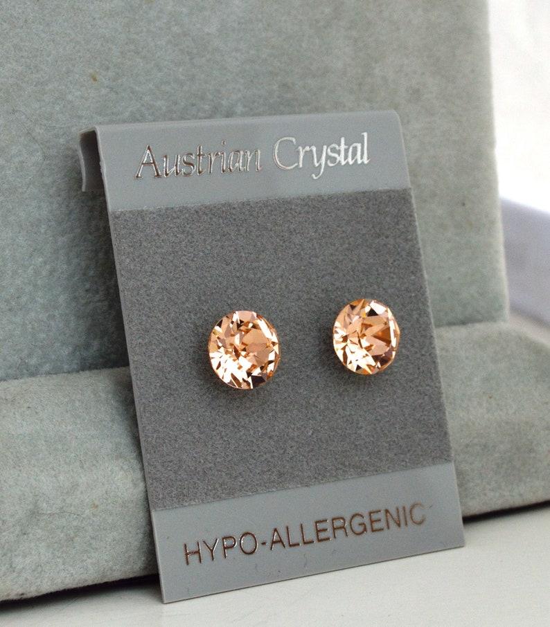 395ad50ec Austrian Crystal 8mm Faceted Round Stud Earrings Swarovski