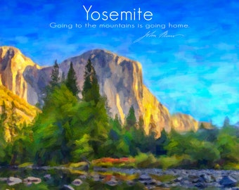 Yosemite Print, El Capitan Poster, Yosemite National Park California Decor Yosemite Art Home Decor Wall Art #rf31