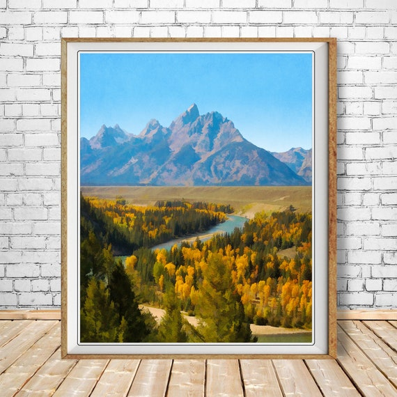 Ansel Adams B//W Photo Grand Teton National Park Wall Picture 8x10 Art Print