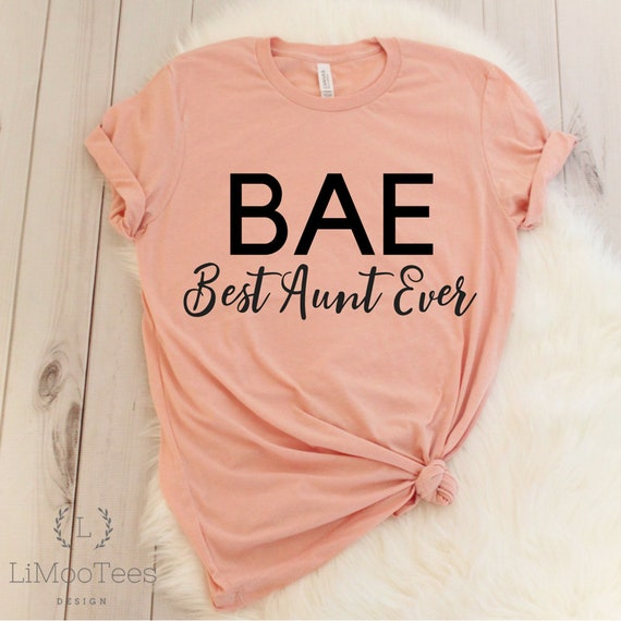 Bae More Colors Available Best Aunt Ever Off the Shoulder Women/'s Shirt Slouchy Tee