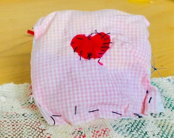 Hand-Sewn Mini Heart Pillow