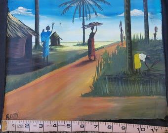 Ugandan Art - Village Women