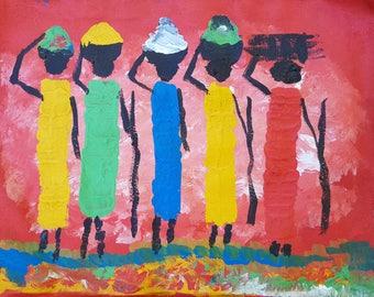 Ugandan Art - Native Workers