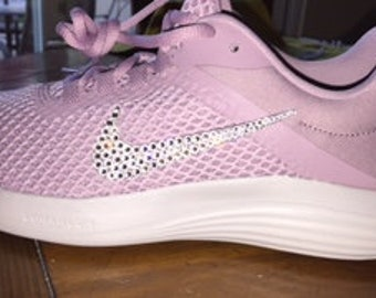 Items similar to Nike Tr3 Swarovski Crystal Hot Pink - Bling Nike ... 81ea1db3f