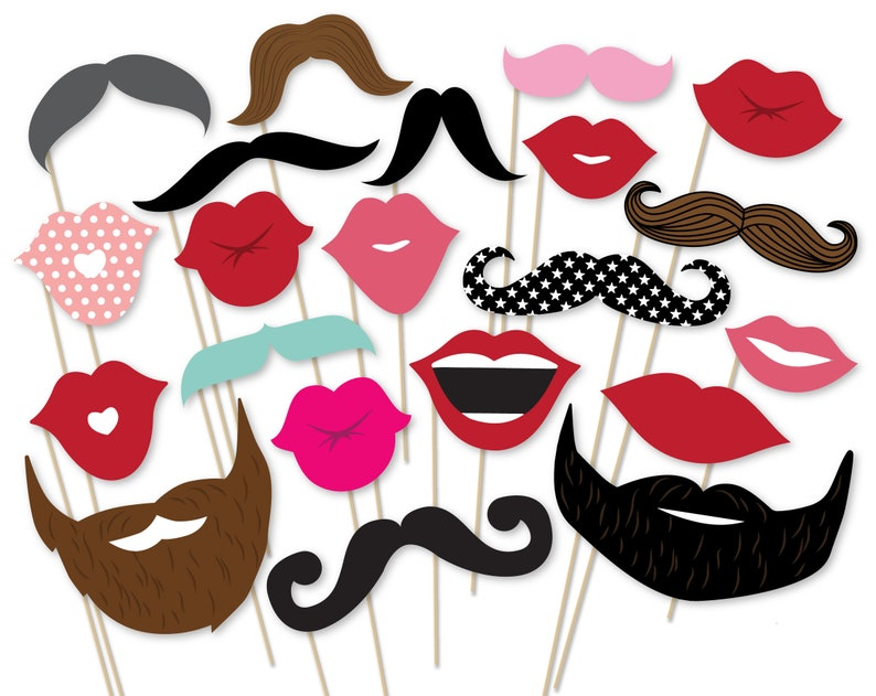 picture relating to Printable Mustache and Lips named Printable Mustache Photograph Booth Props Lips And Beard Picture Booth Props Wedding day Get together Props Birthday Celebration Photograph Booth Props Fast Obtain