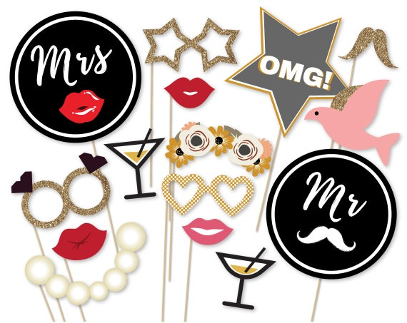 picture relating to Wedding Photo Booth Props Printable known as Marriage ceremony Picture Booth Props Printable Glitter Marriage Occasion Image Booth Props Only Married Props Mrs Mr Photograph Booth Marriage ceremony Get together Decoration