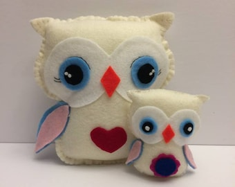Animals, hand sewn felt decoration