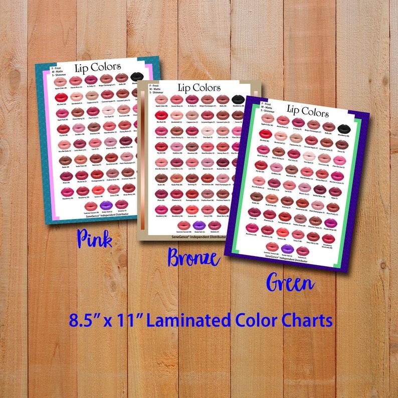 Lipsense Color Chart 2019 Lipsense Poster Senegence Lip Colors Etsy