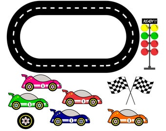 image about Printable Racing Cars titled Printable race observe Etsy