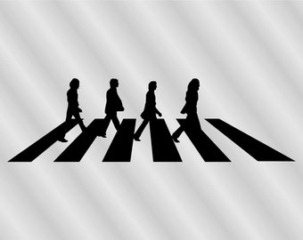 Beatles The Crossing Clipart Vector Digital Cutting File Graphic Design AI JPEG PNG Clip Art Logo Commercial Use