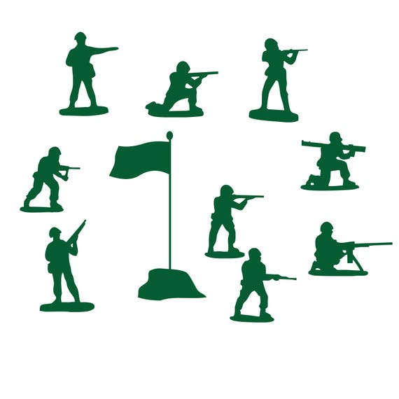 Army Men Clipart - Military, Navy, Soldiers, Flag / Printable / Scrapbook/  Digital Image/ Instant Download/ Commercial Use / png AI Vector