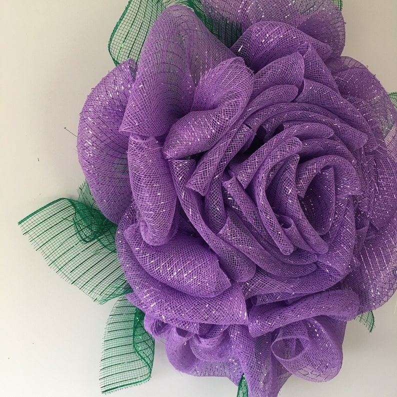Purple rose wreath