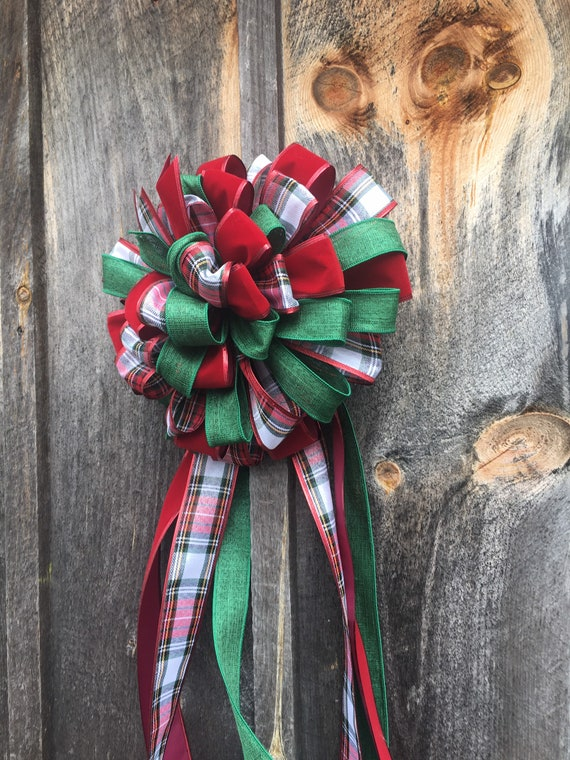 Craft Supplies Wreaths Holiday Gift Basket Lantern Bow Centerpiece Christmas Ribbon Garland Mailbox Bow Tree Topper Bows BICYCLE