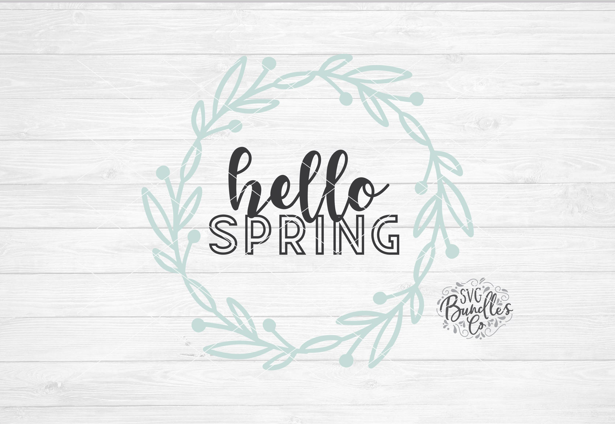 Instant Svg Dxf Png Hello Spring Spring Svg Quote March Etsy