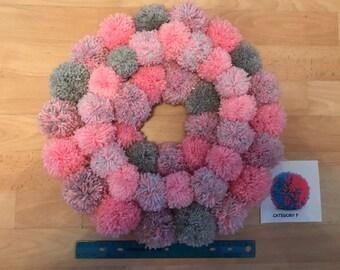 Large Bespoke Pom Pom Wreath