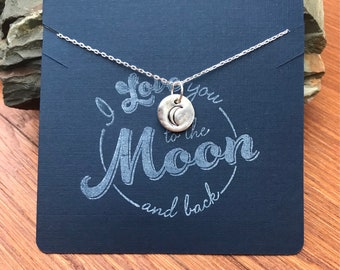 Love necklace/love you to the moon and back necklace