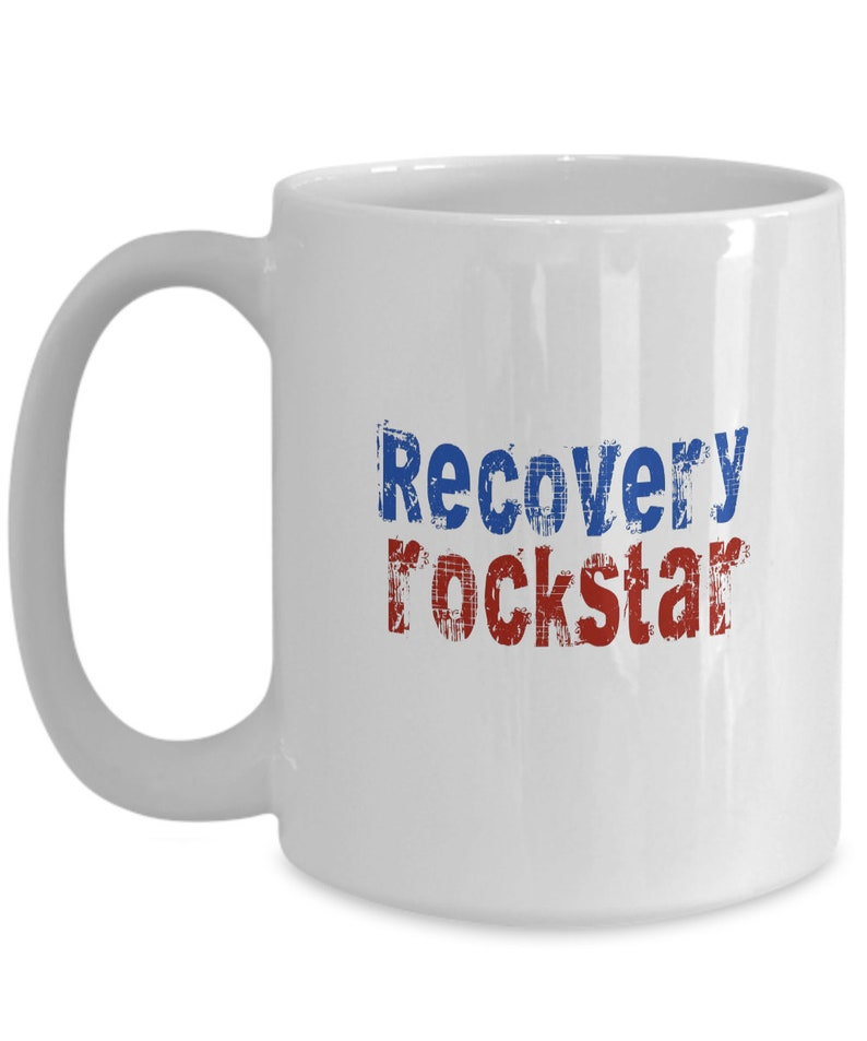 Tea Great RehabW For Family Mug Recovery Or Friend I Gift Rockstar AddictionMotivational Coffee In AlcoholDrugFoodSex dotQChxBsr