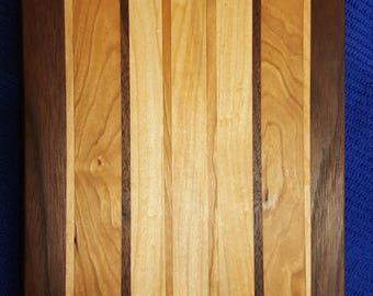 Cutting Board Walnut Cherry Maple 14x7