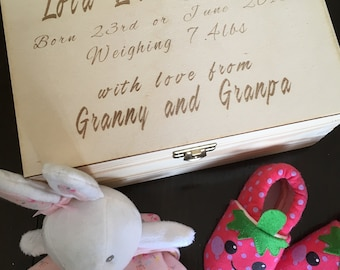 Personalised Wooden Box.