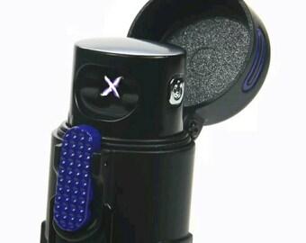 Industrial Waterproof Windproof Element Proof Dual Arc Plasma Lighter kit | Outdoor and Indoor | Flameless Camping Skiing Biking - Blue
