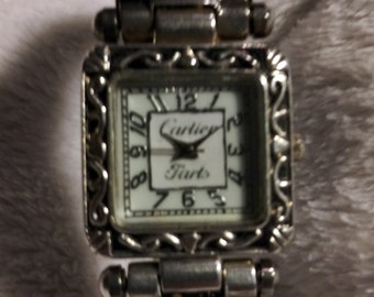 0e64794a3f969 Cartier Fartz Watch Cartier Inspired Vintage Look Square Dial Women s Bangle