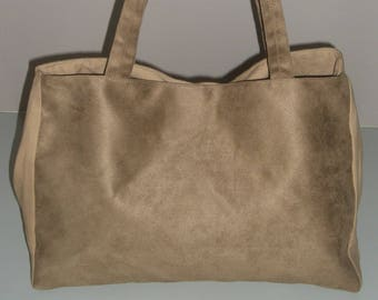 Brown suede bag