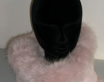 Pink fur Snood with fleece lining