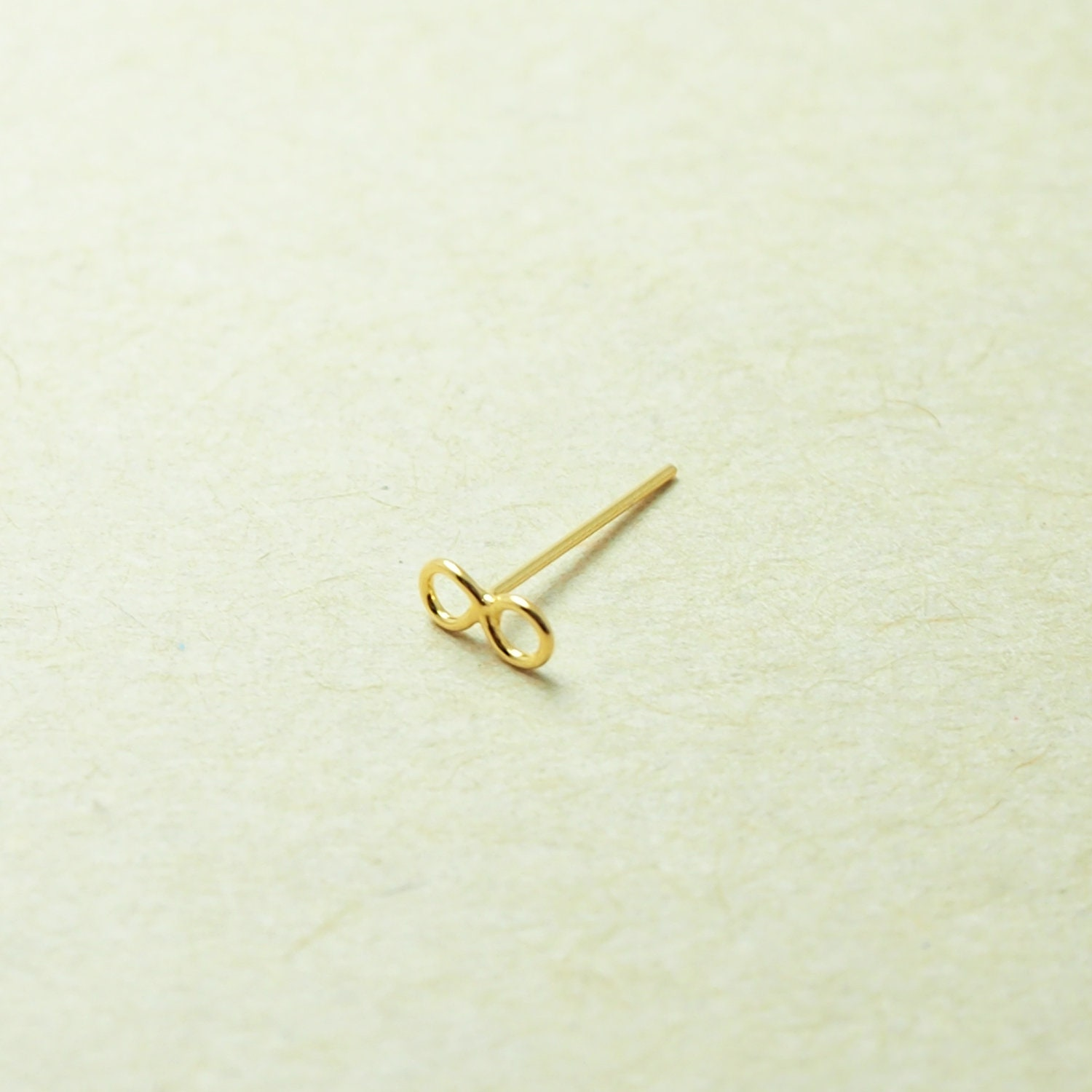 24G  Z32 Gold Infinity Fish Tail Nose Stud Infinity nose stud Nose jewelry Bend it yourself