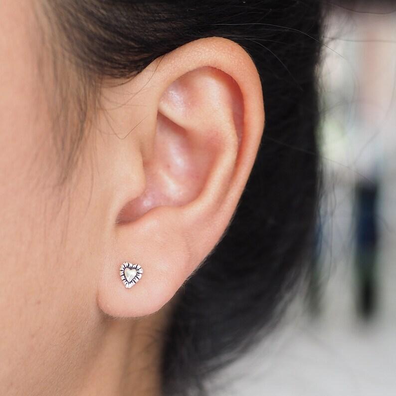 Boho Heart Earrings Dainty Heart earrings Cute eaarings Sister gift Bohemian jewelry  SD147