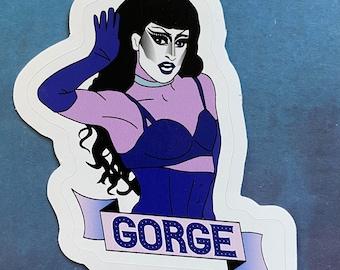 "GottMik Gorge 3"" Sticker - Drag Race - Drag Queen Inspired"